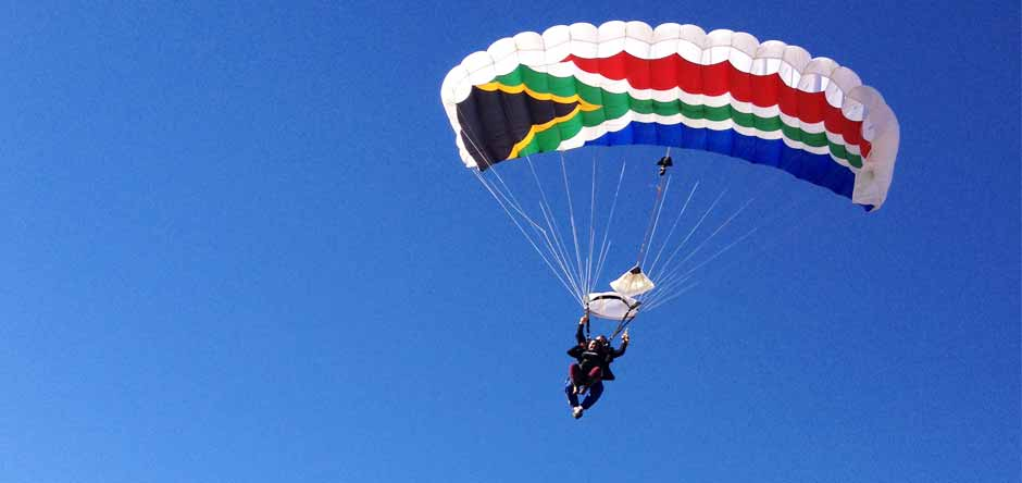 South African Flag Tandem Parachute